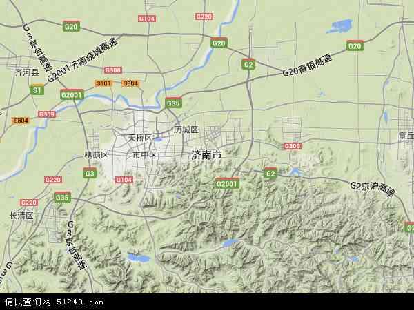 济南市地图 - 济南市卫星地图