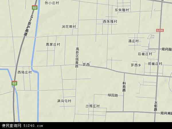 中国山东省临沂市罗庄区罗西地图(卫星地图)