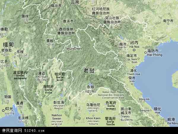 老挝地图 - 老挝卫星地图 - 老挝高清航拍地图 -
