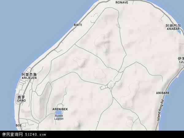瑙鲁地形图 - 瑙鲁地形图高清版 - 2016年瑙鲁地形图