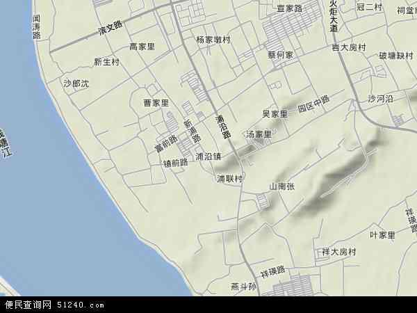 中国浙江省杭州市滨江区浦沿地图(卫星地图)