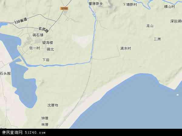 中国广东省汕尾市城区田?地图(卫星地图)