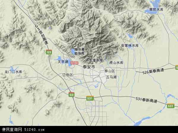 泰安市地图 - 泰安市卫星地图 - 泰安市高清航拍地图