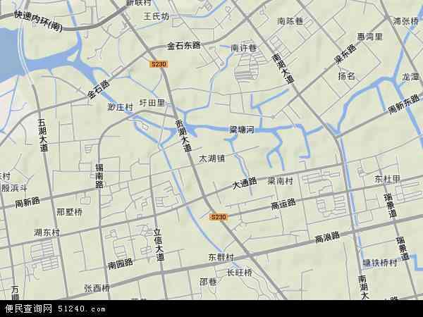 太湖地图 - 太湖卫星地图