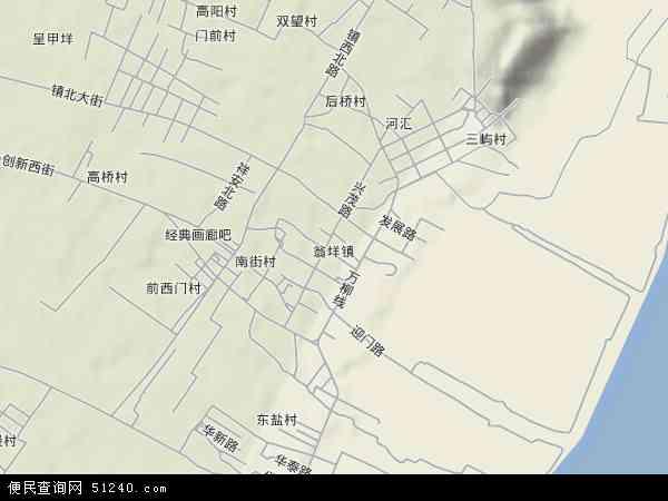 中国浙江省温州市乐清市翁垟地图(卫星地图)