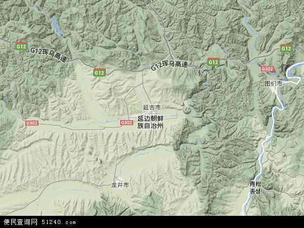 延吉市地形图 - 延吉市地形图高清版