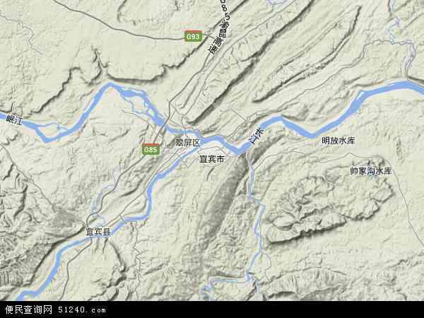 宜宾市地图 - 宜宾市卫星地图