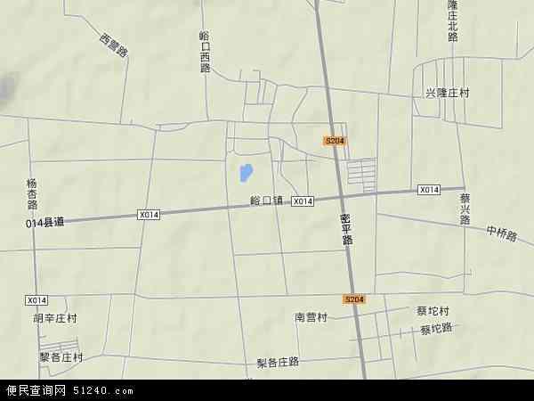 中国北京市平谷区峪口地图(卫星地图)