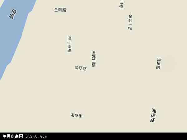 中国广东省汕头市金平区?江地图(卫星地图)