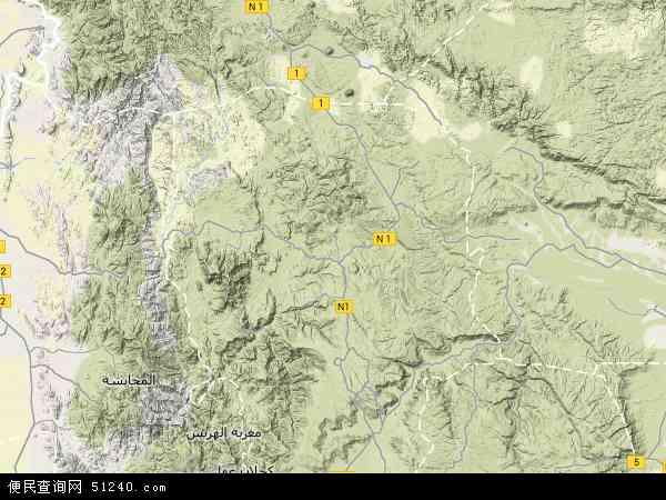 也门阿姆兰地图(卫星地图)
