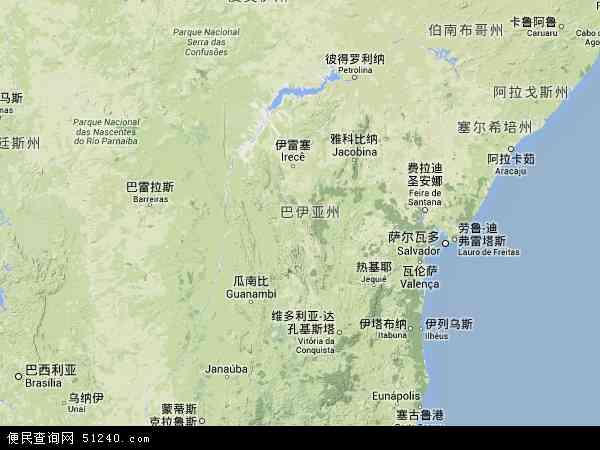 巴伊亚电子地图,2014巴伊亚地图