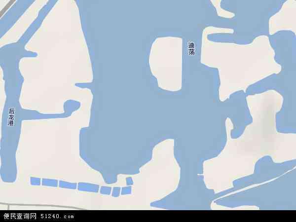 中国浙江省绍兴市越城区迪荡地图(卫星地图)