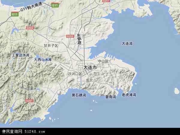 大连市地图 - 大连市卫星地图