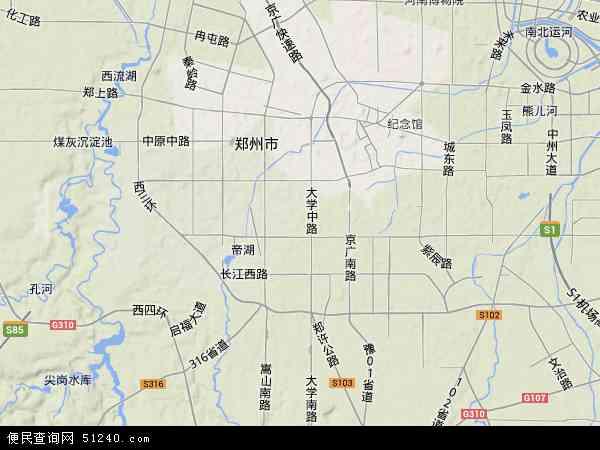 二七区地图 - 二七区卫星地图图片