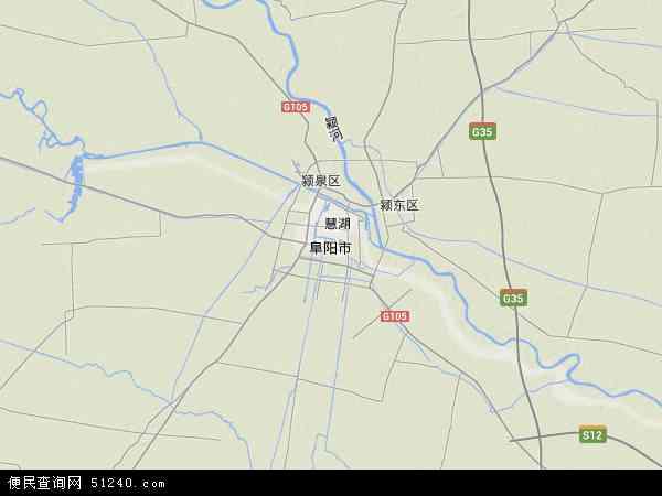 阜阳市地图 - 阜阳市卫星地图