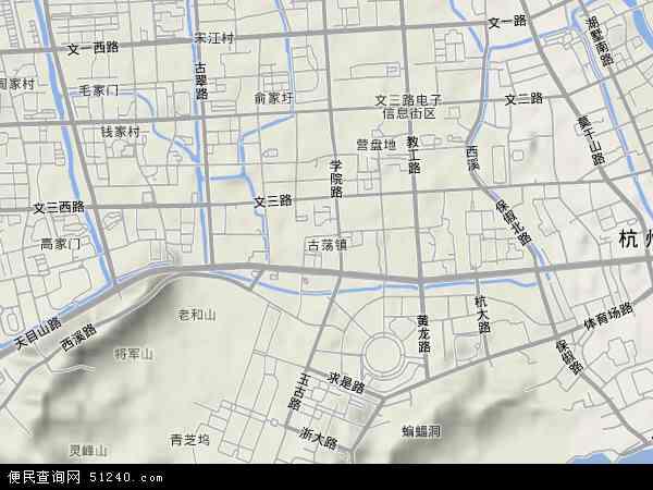 古荡地图 - 古荡卫星地图