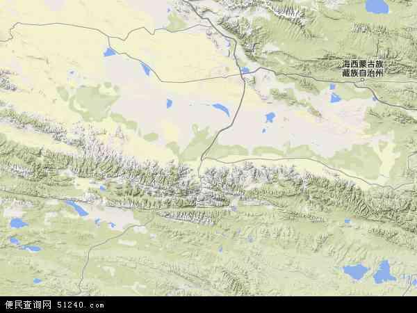 中国青海省海西蒙古族藏族自治州格尔木市地图