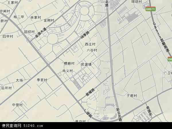 中国云南省昆明市官渡区官渡地图(卫星地图)