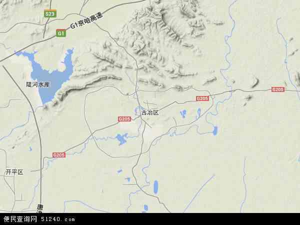 中国河北省唐山市古冶区地图(卫星地图)