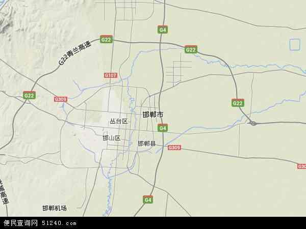 邯郸市地图 - 邯郸市卫星地图