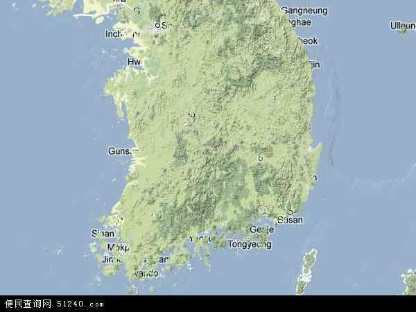 韩国地图(卫星地图)