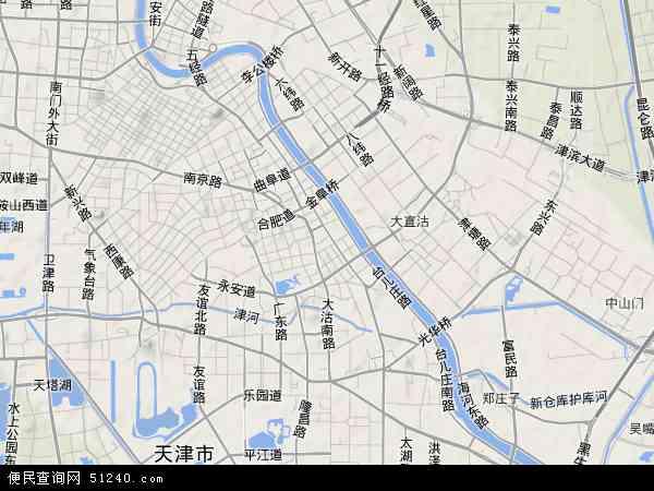 中国天津市河西区地图(卫星地图)图片