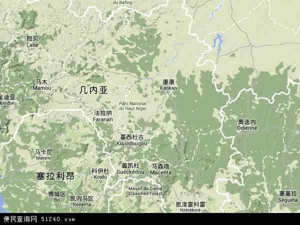 几内亚地图 - 几内亚卫星地图