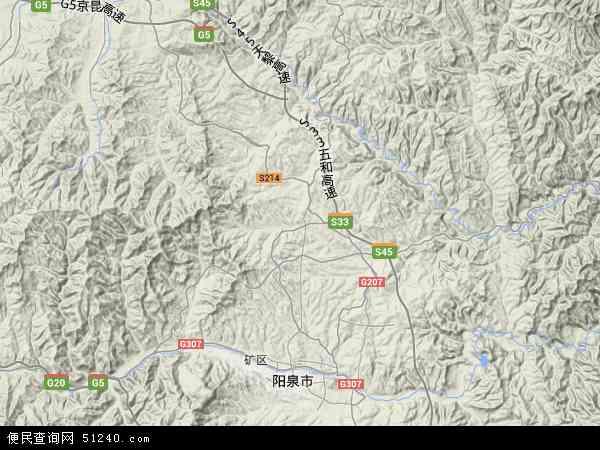 中国山西省阳泉市郊区地图(卫星地图)
