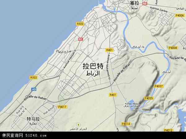 摩洛哥拉巴特地图(卫星地图)