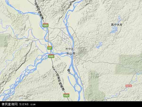 乐山市地图 - 乐山市卫星地图 - 乐山市高清航拍地图