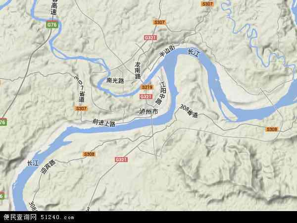 商洛江山風景區地圖