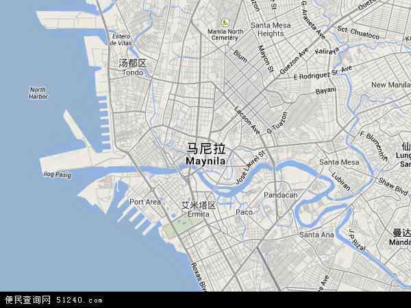 马尼拉地图 - 马尼拉卫星地图 - 马尼拉高清航拍地图