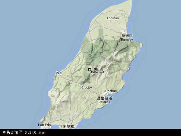 曼岛地形图 - 曼岛地形图高清版 - 2016年曼岛地形图