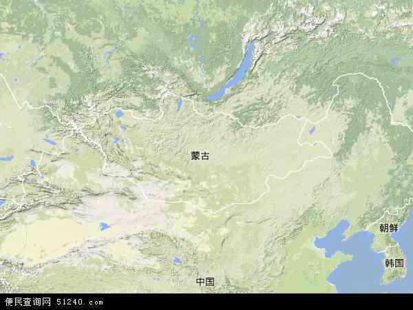 蒙古地形图 - 蒙古地形图高清版 - 2016年蒙古地形图