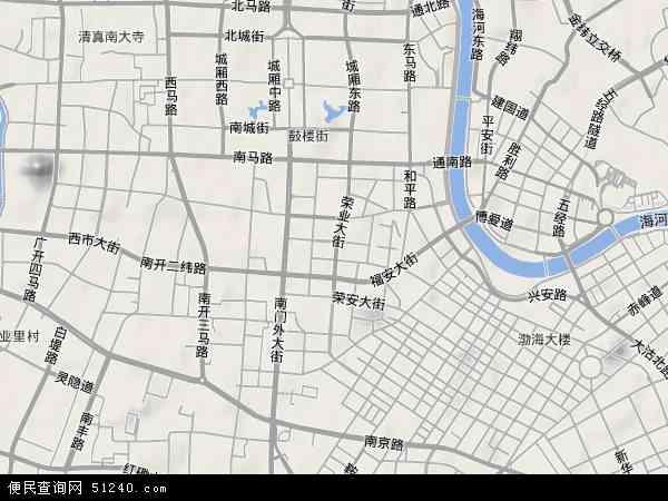 中国天津市和平区南市地图(卫星地图)