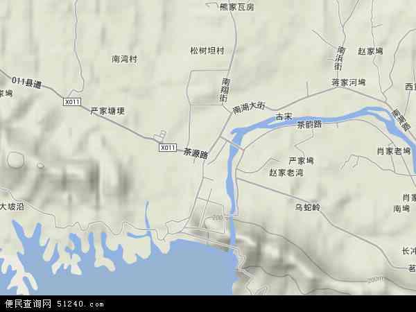 中国河南省信阳市浉河区南湾地图(卫星地图)