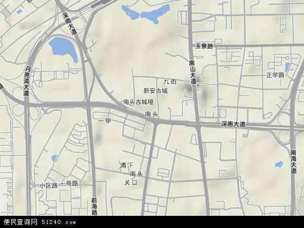 南山区街道划分高清�_南头高清卫星地图 - 南头2018年卫星地图 - 中国广东省深圳市南山区