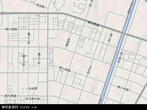 中国辽宁省沈阳市铁西区启工地图(卫星地图)