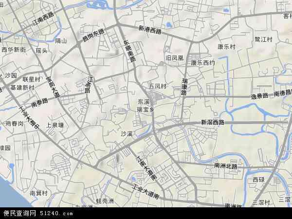 中国广东省广州市海珠区瑞宝地图(卫星地图)