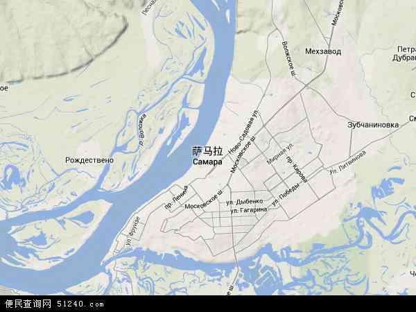 俄罗斯萨马拉地图(卫星地图)