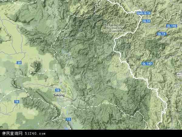 老挝色贡地图(卫星地图)