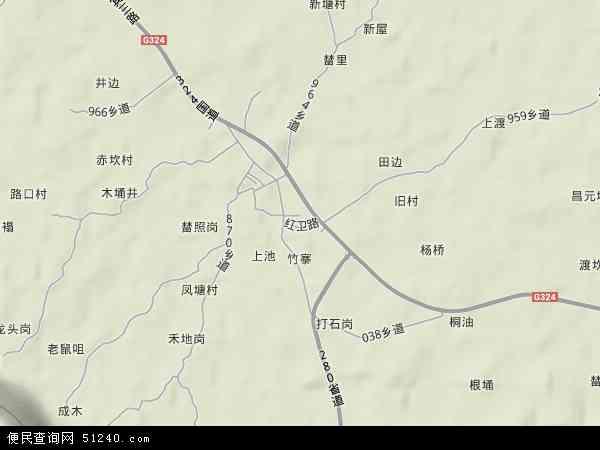 中国广东省云浮市罗定市素龙地图(卫星地图)
