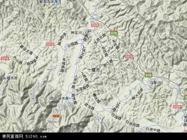 十堰市地图 - 十堰市卫星地图 - 十堰市高清航拍地图