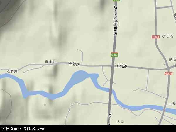 中国福建省福州市福清市石竹地图(卫星地图)