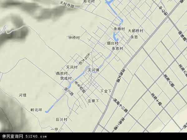 中国浙江省温州市龙湾区天河地图(卫星地图)
