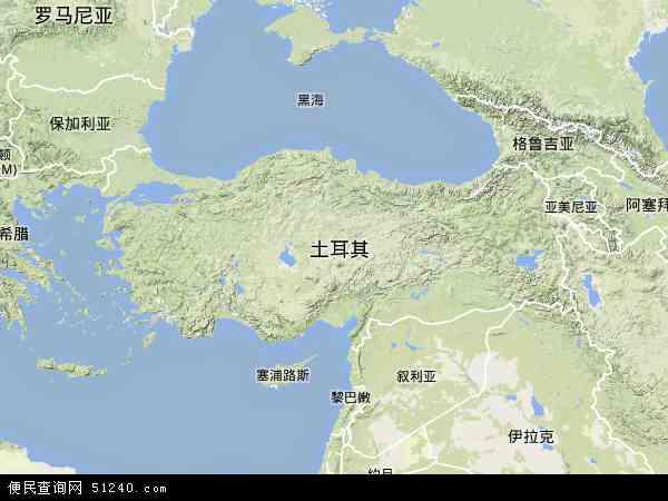 土耳其地图(卫星地图)