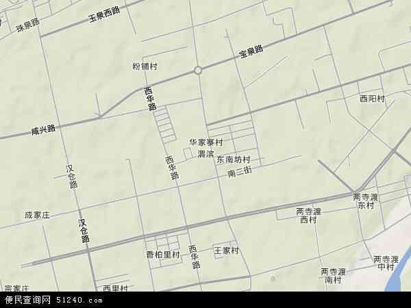中国陕西省咸阳市秦都区渭滨地图(卫星地图)