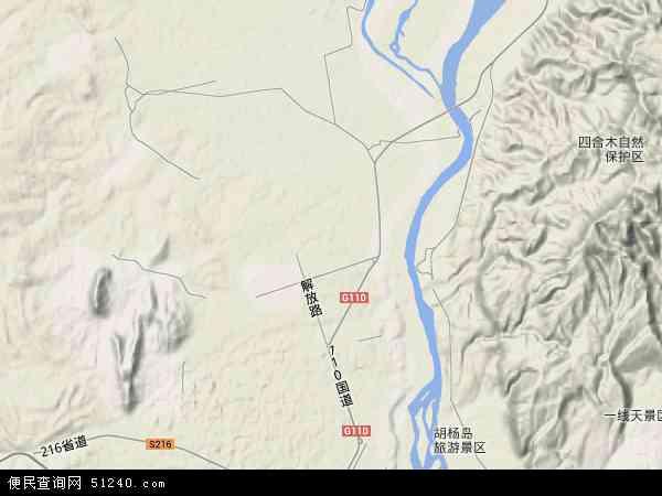乌达区地图 - 乌达区卫星地图