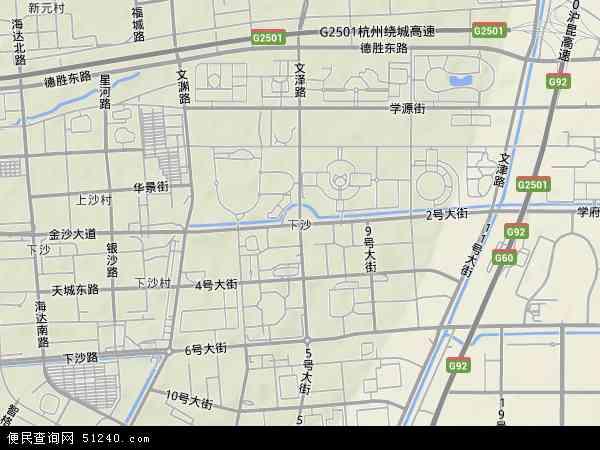 杭州市三维地图全图_杭州下沙三维电子地图全图展示_地图分享