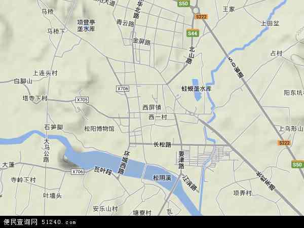 中国浙江省丽水市松阳县西屏地图(卫星地图)